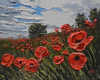 Painting - Poppies Wrotham Kent Uk by Diana Shephard