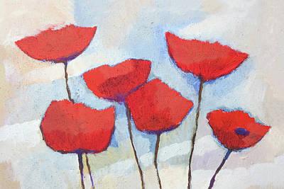 Xl Painting - Poppies X L by Lutz Baar