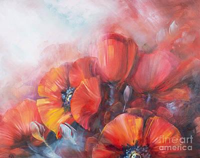 Poppies Original by J Davydova