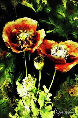 Digital Art - Poppies01 by Jo-Anne Gazo-McKim