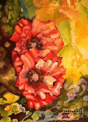 Painting - Poppiesii by Pamela Shearer
