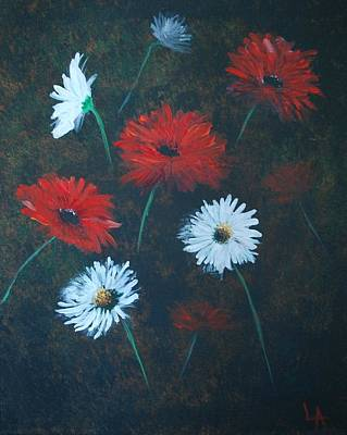 Painting - Poppin Daisies by Leslie Allen