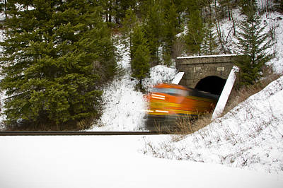 Photograph - Popping Out Of Tunnel 1012 by Albert Seger