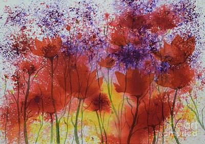 Painting - Popping Poppies  by Barrie Stark
