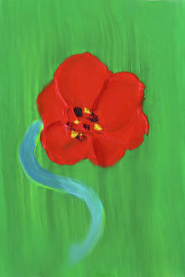 Painting - Popping Poppy 1 by Deborah Boyd