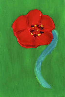 Painting - Popping Poppy 2 by Deborah Boyd