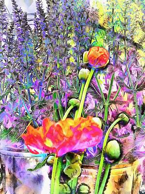 Photograph - Poppy And Lavender Fusion by Dorothy Berry-Lound