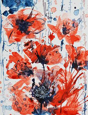 Painting - Poppy Blast by Zaira Dzhaubaeva
