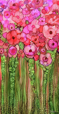 Mixed Media - Poppy Bloomies 2 - Pink by Carol Cavalaris