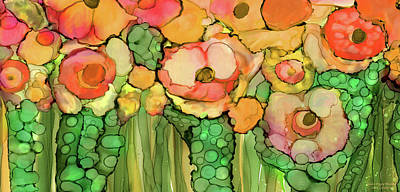 Mixed Media - Poppy Bloomies 4 - Orange by Carol Cavalaris