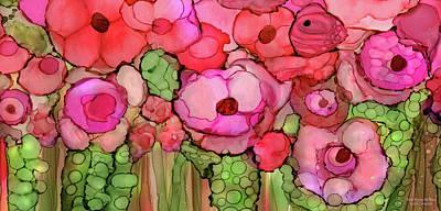 Mixed Media - Poppy Bloomies 4 - Pink by Carol Cavalaris