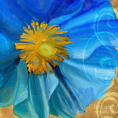 Blue Poppies Painting - Poppy Blues I by Mindy Sommers
