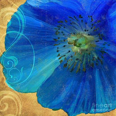 Blue Poppies Painting - Poppy Blues II by Mindy Sommers