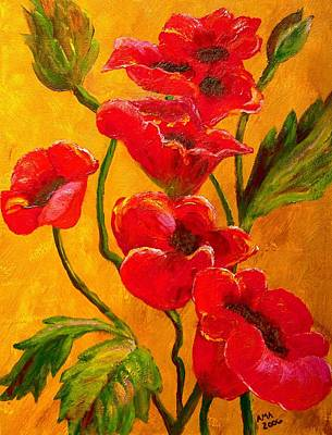 Painting - Poppy Bouquet by Joy of Life Art Gallery