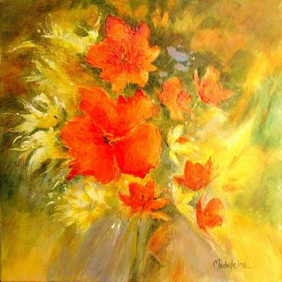 Poppy Bouquet  Art Print by Madeleine Holzberg