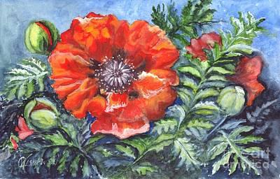 Poppy Brilliance Art Print by Carol Wisniewski