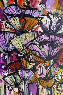 Poppy Bursts Art Print