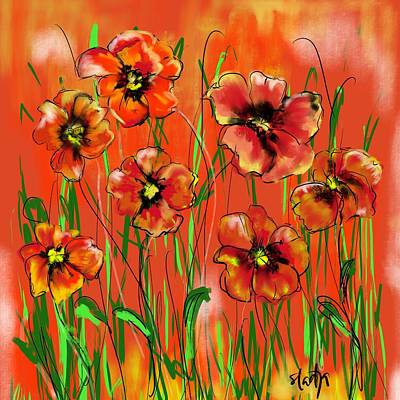 Digital Art - Poppy Day  by Sladjana Lazarevic