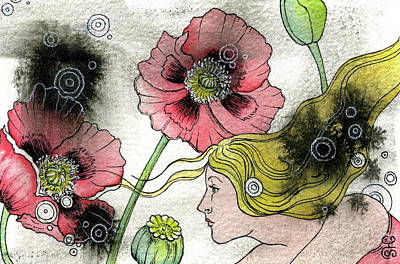 Poppy Dream Art Print by Sheri Howe