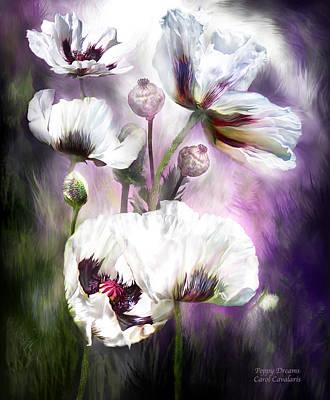Mixed Media - Poppy Dreams by Carol Cavalaris