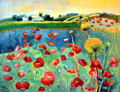 Poppy Farm Art Print