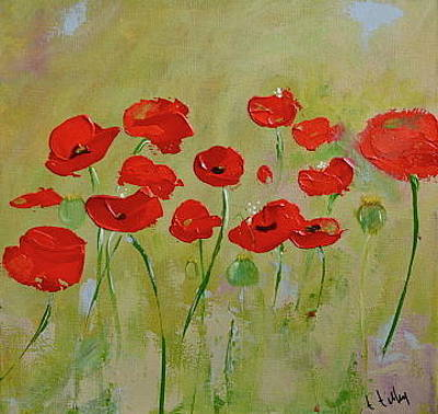 Painting - Poppy Fever by Teresa Tilley