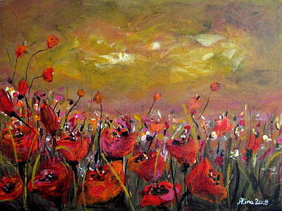 Poppy Field Art Print by Alina Vidulescu