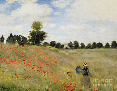 Poppies Field Painting - Poppy Field by Celestial Images