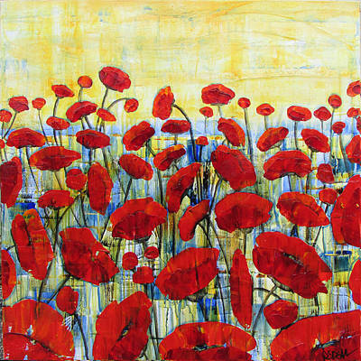 Painting - Poppy Field by Diane Dean