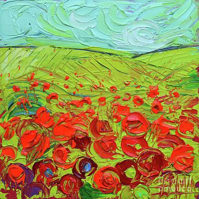 Painting - Poppy Field Etude by Mona Edulesco