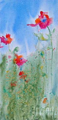 Poppy Field Flowers Art Print by Reveille Kennedy
