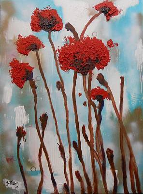 Painting - Poppy Field by Gh FiLben