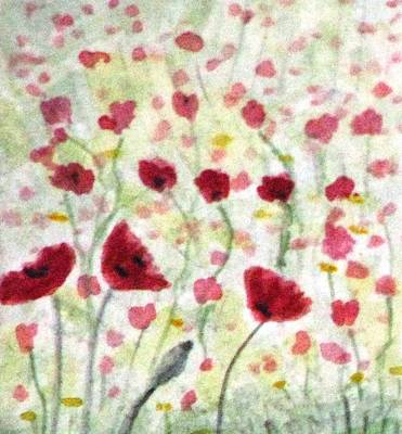 Painting - Poppy Fields Forever by Angela Davies