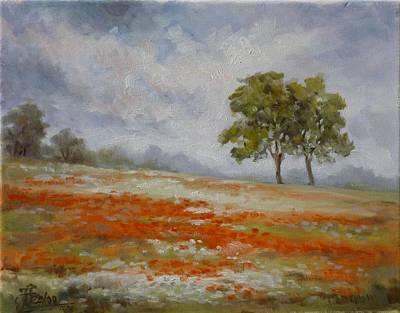 Flower Painting - Poppy Fields by Irek Szelag