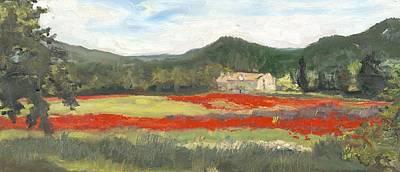 Wall Art - Painting - Poppy Fields by Katherine Farrell