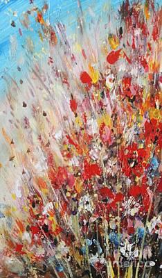 Painting - Poppy Flowers by Dariusz Orszulik