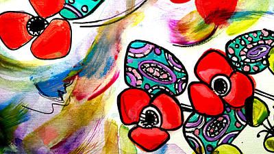 Painting - Poppy Fun by Nikki Dalton