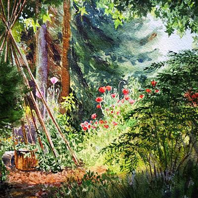 Painting - Poppy Garden Landscape by Irina Sztukowski