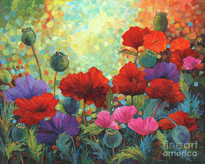 Painting - Poppy Garden by Peggy Wilson