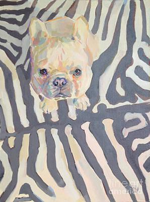 Frenchie Painting - Poppy Gray by Kimberly Santini