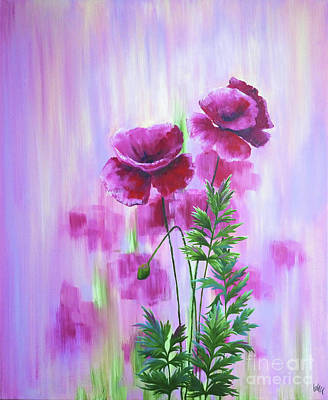 Painting - Poppy Haze by Julia Underwood