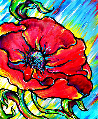 Painting - Poppy II by Nada Meeks