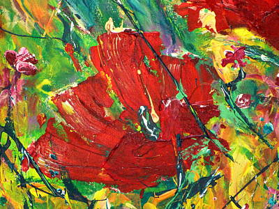 Painting - Poppy II by Tracy Bonin