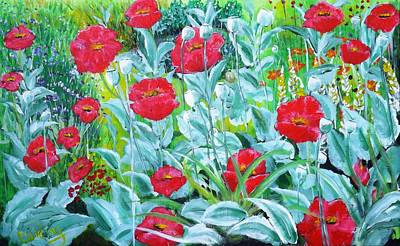 Painting - Poppy Impression by Courtney Wilding