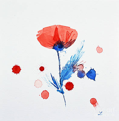 Painting - Poppy Improvisation by Zaira Dzhaubaeva