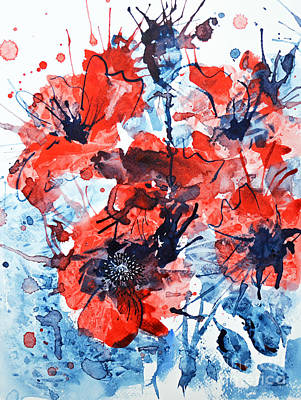 Painting - Poppy Impulse by Zaira Dzhaubaeva