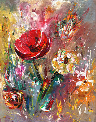 Painting - Poppy In Paradise by Miki De Goodaboom