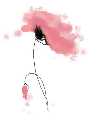 Painting - Poppy In Pink by Linde Townsend