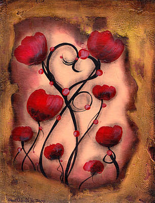 Painting - Poppy Love by  Abril Andrade Griffith