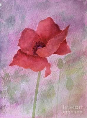 Farmanimals Painting - Poppy Love by Barrie Stark